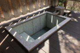 温泉山荘だいこんの花 客室浴槽工事竣工しました