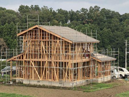 K様邸の建て方がはじまりました